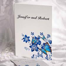 Royal Blue Wedding Invitations Delicate Royal Blue Half Folded Wedding Invitations Ukf002 Ukf002