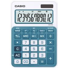 le de bureau à pile calculatrice de bureau casio ms 20nc bu bleu solaire à pile s sur
