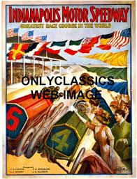 indianapolis motor speedway art deco auto racing poster indy 500