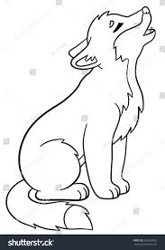 coloring pages little cute baby wolf stock vector 520193542