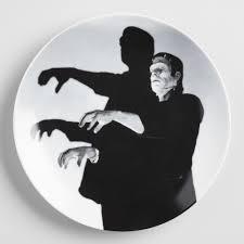 Frankenstein Shower Curtain by Frankenstein Plates Set Of 4 World Market