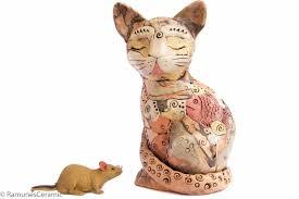 Collectible Home Decor Large Cat Sculpture Modern Home Decor Figurine Statue Collectible