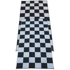 Polypropylene Rugs Outdoor by Fireside Patio Mats Racing Checks Black And White Checkered Flag 9