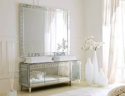 Decorative Mirrors For Bathroom Vanity Hermitage H1 High End Italian Bathroom Vanity In Venetian Mirror