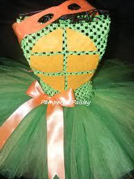 ninja halloween costumes for girls teenage mutant ninja turtles inspired michelangelo tutu dress