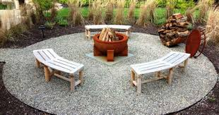 Installing Pea Gravel Patio Amazing Pea Gravel Fire Pit Design Ideas Home Fireplaces