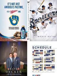 milwaukee brewers 2013 media guide major league baseball sports