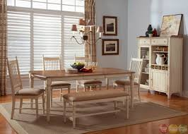 Dining Room With Bench Seating Homelegance Alita 6 Piece Dining Room Set W Bench In Warm Dining