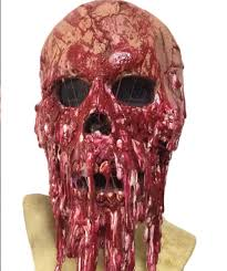 wellin bloody horror melted face scary halloween mask costume ebay
