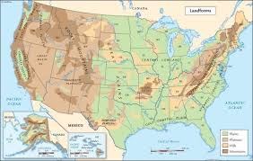 map us landforms landform map of india my