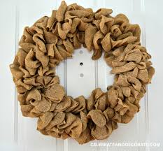 How To Make Wreaths How To Make A Burlap Wreath Celebrate U0026 Decorate
