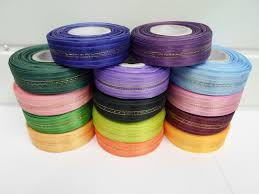 pull bow ribbon 2 or 25 metres 25mm fasbo pull bow ribbon roll craft side bows uk