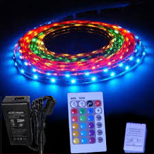 chambre led led light kit 5m rgb changing color with remote and