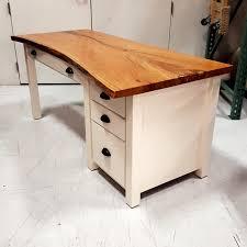 live edge computer desk cherry live edge slab desk live edge desk amish made solid