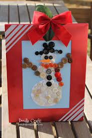 doodlecraft snowman buttons