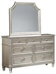 Bedroom Dresser Mirror Silver Panel Bedroom Set From Standard Furniture Coleman