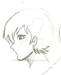 side face sketch manga guy by crisiscrasher on deviantart