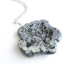 titanium pendant necklace images Titanium geode necklace silver druzy pendant cindylouwho2 jpg