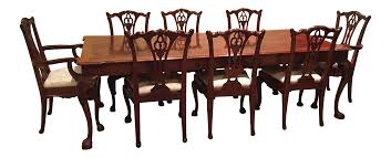 henredon rittenhouse square mahogany table with chairs set of 11