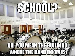 Band Geek Meme - the only thing that kept me going to school guard s the word