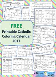 Liturgical Desk Calendar Free Printable Catholic Coloring Calendar 2017 Drawn2bcreative