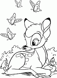 bambi coloring pages disney kids coloring