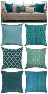 teal blue leather sofa decorative modern pop art interior desig with beautiful purple