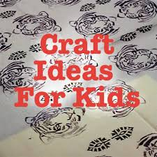 easy kids craft ideas block printing a tea towel youtube