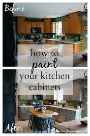 how to paint your kitchen cabinets andiamo