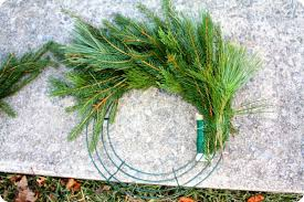 how to make an evergreen wreath real mountain values