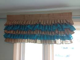 Ruffled Kitchen Curtains Ruffled Curtains Burlap Valance Ruffled Burlap Curtains Burlap