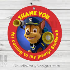 paw patrol tags paw patrol favor tag claudia party