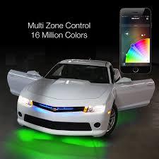 app controlled car lights 6pc 10 flexible strip car interior grill xkchrome app control under