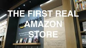 inside amazon com u0027s first real store me from the past youtube