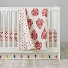 Boho Crib Bedding by Bohemian Garden Crib Bedding The Land Of Nod