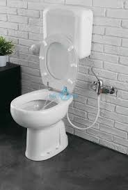 vaso bidet combinato a terra con funzione bidet completo di sedile