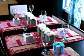 baby shower table decorations ideas pink floral pattern napkin