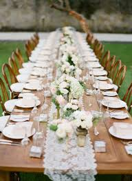 candle runners lovely wedding table runner ideas lace runners with votive