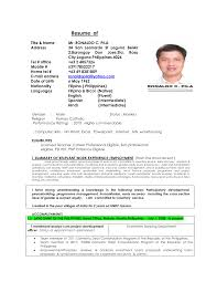 Resume Titles Examples by Sample Resume For Hindi Teacher In India Templates
