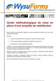 Mise En Place D Une Guide Méthodologique De Mise En Place D Une Enquête De Satisfaction