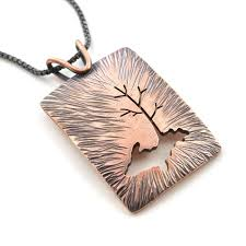 copper jewelry necklace images Radial upper peninsula family tree copper pendant beth millner jpg