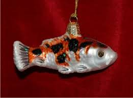 assorted color koi personalized ornaments by
