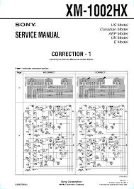 sony xm 1002hx service manual download schematics eeprom repair