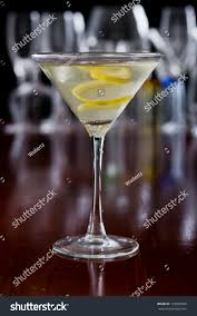 martini twist dirty martini chilled served on busy stock photo 129890666