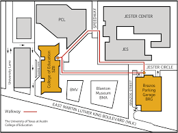 map to map to building brazos garage college of education
