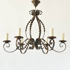 fleur de lis chandelier iron chandelier with twisted arms the big chandelier