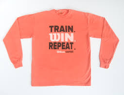 Comfort Colors Chalky Mint Train Win Repeat Comfort Colors Long Sleeve Salmon Store