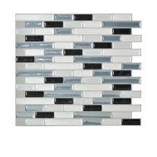 Adhesive Tile Backsplash Home Depot Imposing Astonishing - Backsplash tiles home depot