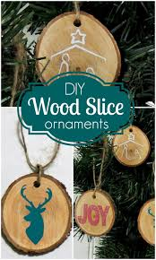 diy wood disc ornaments crafting in the