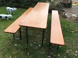 Folding Table And Bench Set German Beer Keller Folding Table And Bench Set In Brighton East